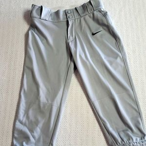 Nike Silver Sz S Belted Tapered Sport Pant